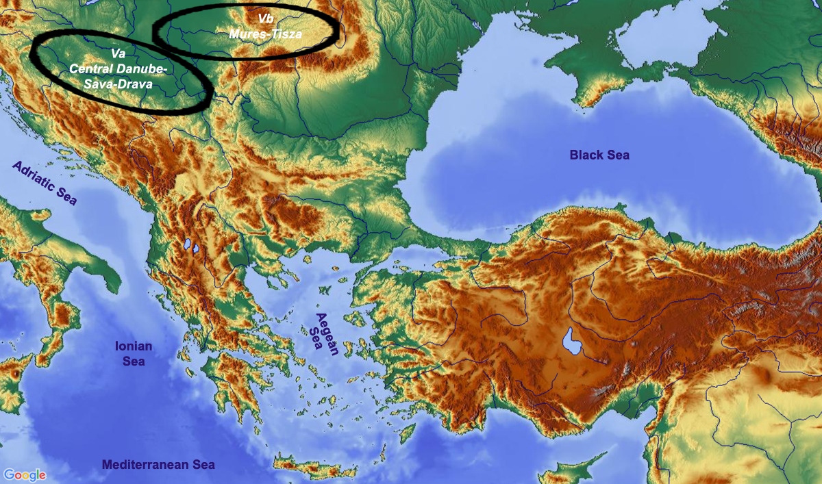 map showing subregions of region 5 Southern Carpathian Basin