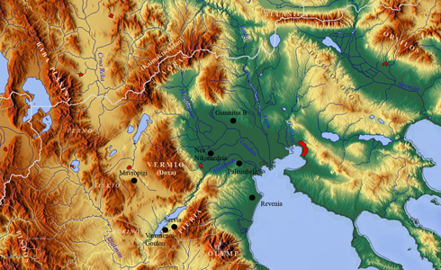 Figure 3. Map of western Macedonia with main mountains and rivers