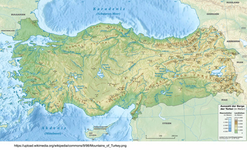 Figure 1. Geographical map of Turkey